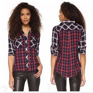 Rails Liza Two Tone Plaid Flannel Shirt